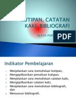Kutipan,Ctt Kaki,Bibliografi