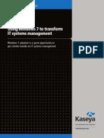 Windows 7 IT Management - Kaseya