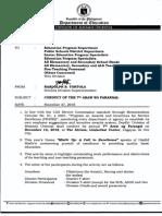 Dm 708 s 2018 Conduct of the 7th Araw Ng Parangal