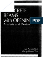 Concrete Beams With Openings Analysis Design