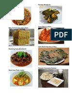 Makanan 34 Provinsi Indonesia