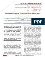Simulation Research on the Effect of Energy Saving Policy in Office Building based on Dynamic Game
