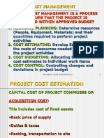 Project Cost Estimation