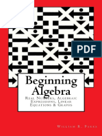 Begin Algebra