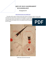 A Critique of Old Calendarist Ecclesiology[3148]