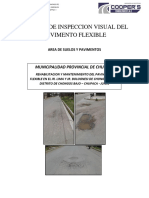 Informe de Inspeccion Visual Del Pavimento Flexible