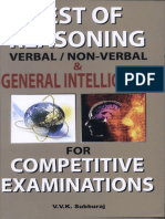 V.v.K. Subburaj - Test of Reasoning – Verbal Non-Verbal - & General Intelligence Competitive Examinations (2012, Sura College of Competition)