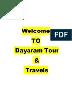 tour and travels dayaram