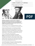 10 Diferencias Entre Lutero y Calvino