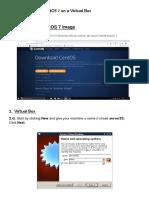 Steps to Install a CentOS 7 on a Virtual Box