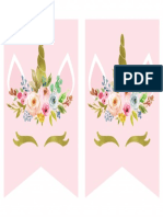 Unicorn Floral Banner