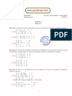 Algebre TD
