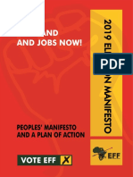 2019 EFF election manifesto