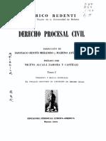 REDENTI, Enrico. Derecho Procesal Civil. Tomo I
