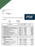 Sample Billing for Ship Repair