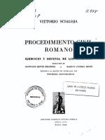 SCIALOJA, Vittorio. Procedimiento Civil Romano ejercicio.pdf