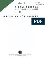 Ballón, Enrique, Tomo 2 Índice