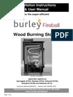 9103 9112 Burley Wood Burner Installation Instructions AUGUST 2016