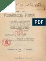 Parlamentul Romîn - 1866-1901 - Biografii Şi Portrete