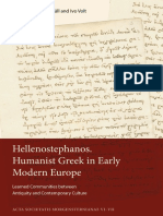 Hellenostephanos. Humanist Greek in Early Modern Europe