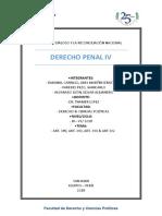 Delitos Contra La Administración Pública - Art 389,390.391.392