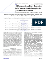 Analysis of the Efficiency of Auditory Protectors used in the Civil Construction industry in the City of Manaus in Brazil