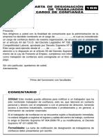 Carta de Designacion Cargo de Confianza