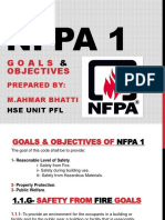 Nfpa 1 Goals and Objectives