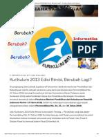 Kurikulum 2013 Edisi Revisi, Berubah Lagi_ – Redaksi Bahasa Dan Agama