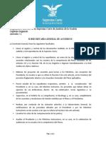 Reglamento interior Suprema Corte de Justicia de la Nación - Facultades Subsecretaría General de Acuerdos