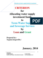 Criterion for Selection of Towns for Loan and Grant.docx Junuary 2014 (2)