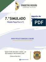 07-Simulado Missao Papa Fox Agente Comentado