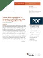 Efficient Adaptor Ligation for the Preparation of DsDNA Libraries Using Blunt-TA Ligase Master Mix