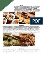 Gastronomia de Los Paises de Centroamerica