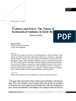 Holiness and Power the Nature of Ecclesiastical Guidance in Early Byzantium