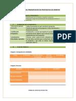 Formulario Protocolo Propuesta de proyectos Biodanza