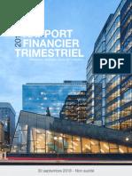 Rapport Financier Trimestriel Troisieme Trimestre 2018