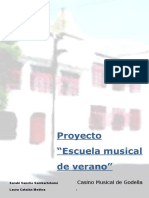 Proyecto Vacacional de Música