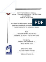 Aplicación de Un Sistema de Información Geográfica Para La Actualización Del Catastro Urbano Del Municipio de Actopan Estado de Hidalgo.