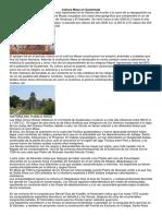 Cultura Maya en Guatemala