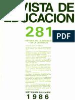 Revista de Educación 281. Hisotria de La Infancia y La Juventud