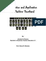 Machine Shorthand Module 15