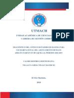 Diagnóstico del Antiguo botadero de basura para uso habitacional del asentamiento humano Abelito Farfán en Huaquillas