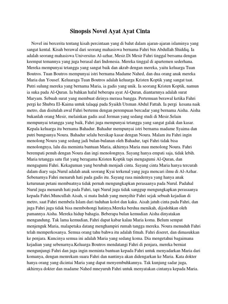 Sinopsis Novel Ayat Ayat Cinta 2 Lengkap