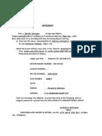 Change Body Affidavit