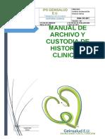 1.Manual de Archivo y Custodia de Historias Clinicas Ok