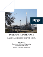 Internship Report Dakhni Gas Processing