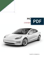 Model 3 Owners Manual