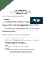 Normativa Campeonato 3 Aguas