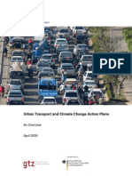 Urban Transport and Climate Change Action Plans Details